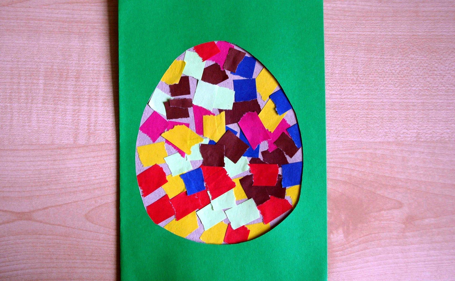 Мастер-класс: пасхальные открытки своими руками с детьми из бумаги и картона