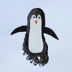 пингвин - отпечаток ноги