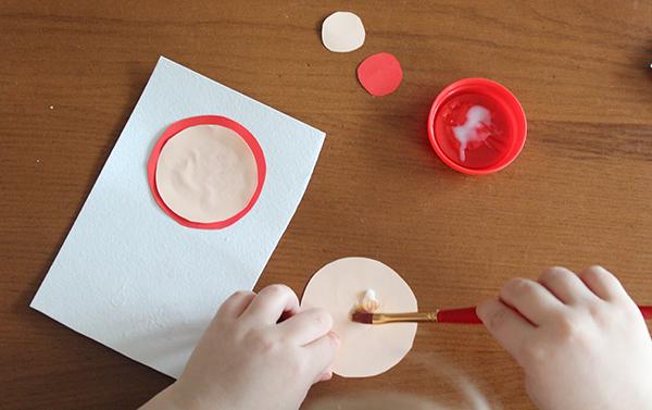 МК по созданию открытки - клеим кружки