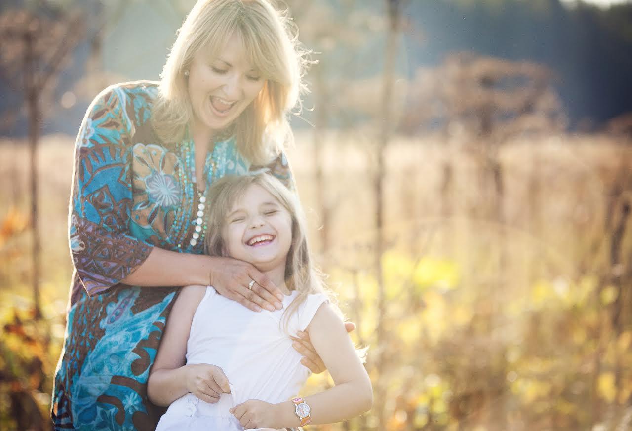 Наталия Фаустова с дочкой Аней